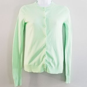 J. Crew XXS Mint Green Button Up Cardigan